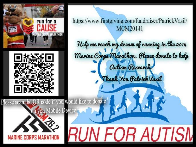 Help my reach my goal for the 2014 Marine Corps Marathon.